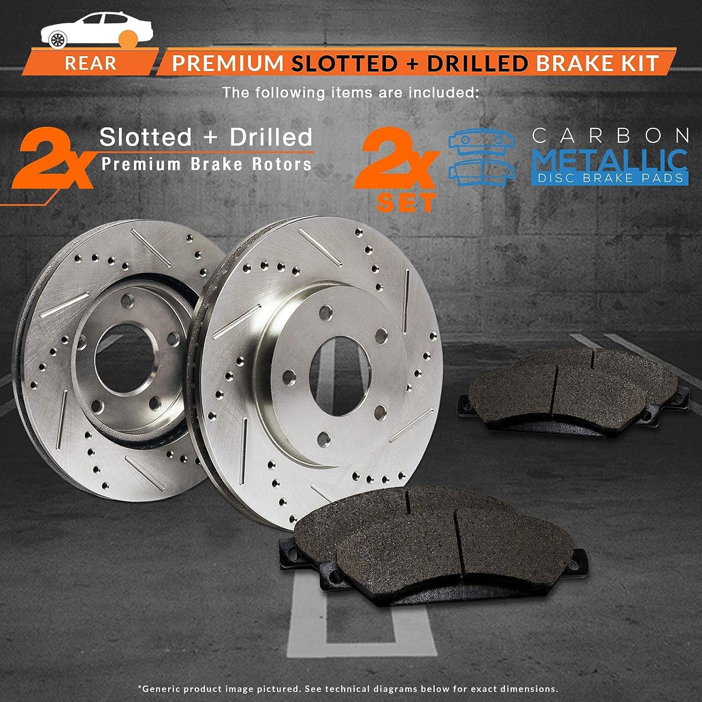 Fits: 2011 11 2012 12 2013 13 Lexus IS250 Base Model w// 11.45 Diameter Rear Rotors; Non C Models TA083932 Max Brakes Rear Performance Brake Kit Premium Slotted Drilled Rotors + Metallic Pads