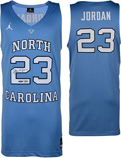 532e9187d472 Image Unavailable. Image not available for. Color  Michael Jordan North  Carolina Tar Heels Autographed Blue ...