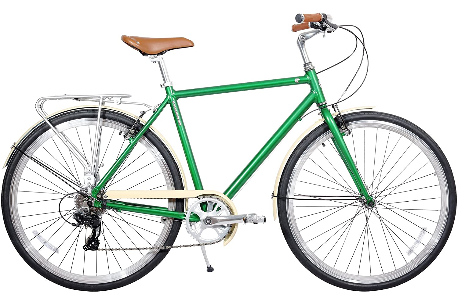 image of green commuter from gama bikes
