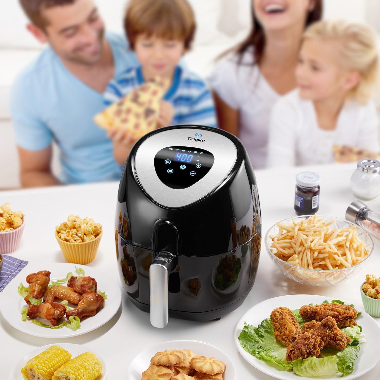 Freidora de aire digital con programas preestablecidos, freír con poco o sin aceite 3.5 L, 1500 W (6 programas): Amazon.es: Hogar