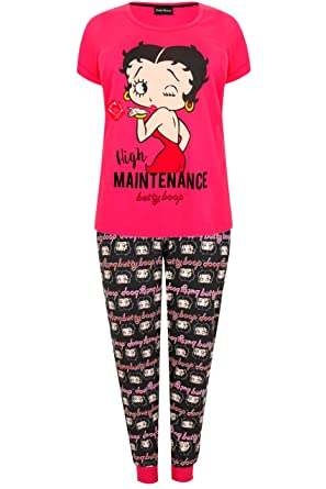 af111cbe9 Yours Clothing Women s Plus Size Betty Boop Print Top   Bottoms ...