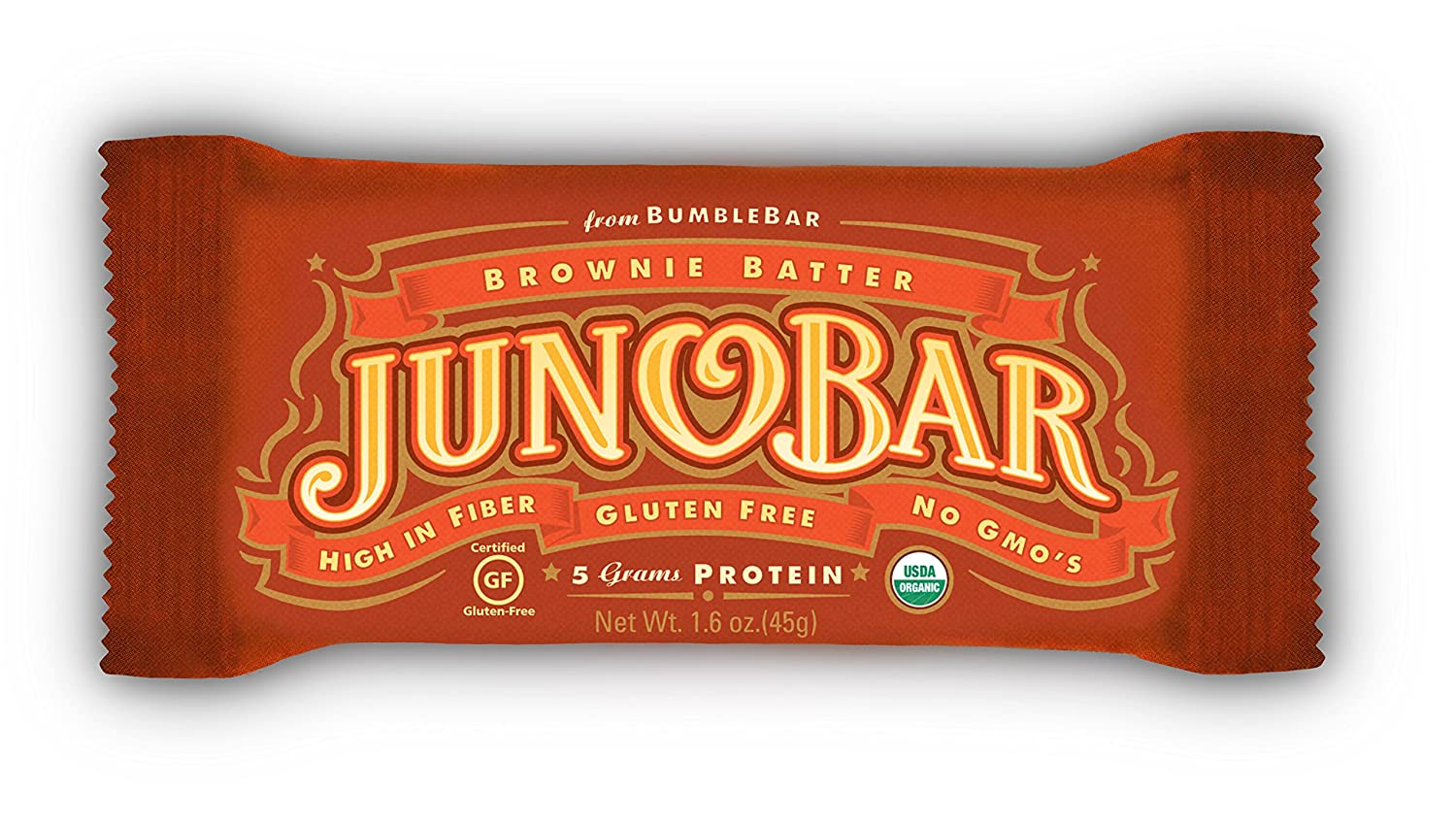 Bumble Bar Juno Bar, Brownie Batter, 1.6 Ounce (Pack of 12)
