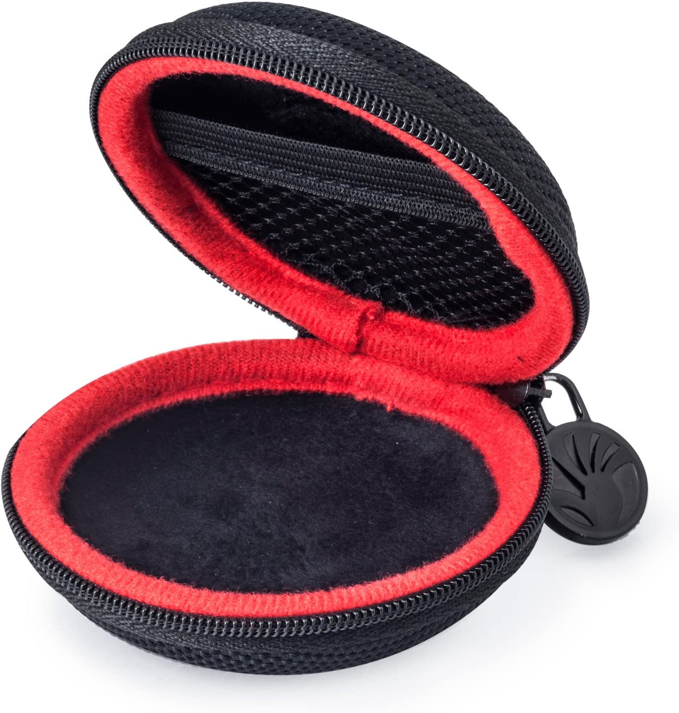 Earbud Case Protective Hard Travel Carrying Case Headphone Case Black Portable Storage Bag for Bluetooth//Wired Headset Earphone Earbuds MP3