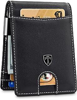 Amazon.com: - Billetera para hombre con clip delgado: Clothing