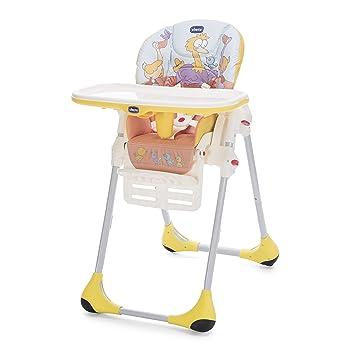 Chicco Polly Easy - Trona amplia, compacta y sencilla, para niños de 0 a 3 años, color birdland
