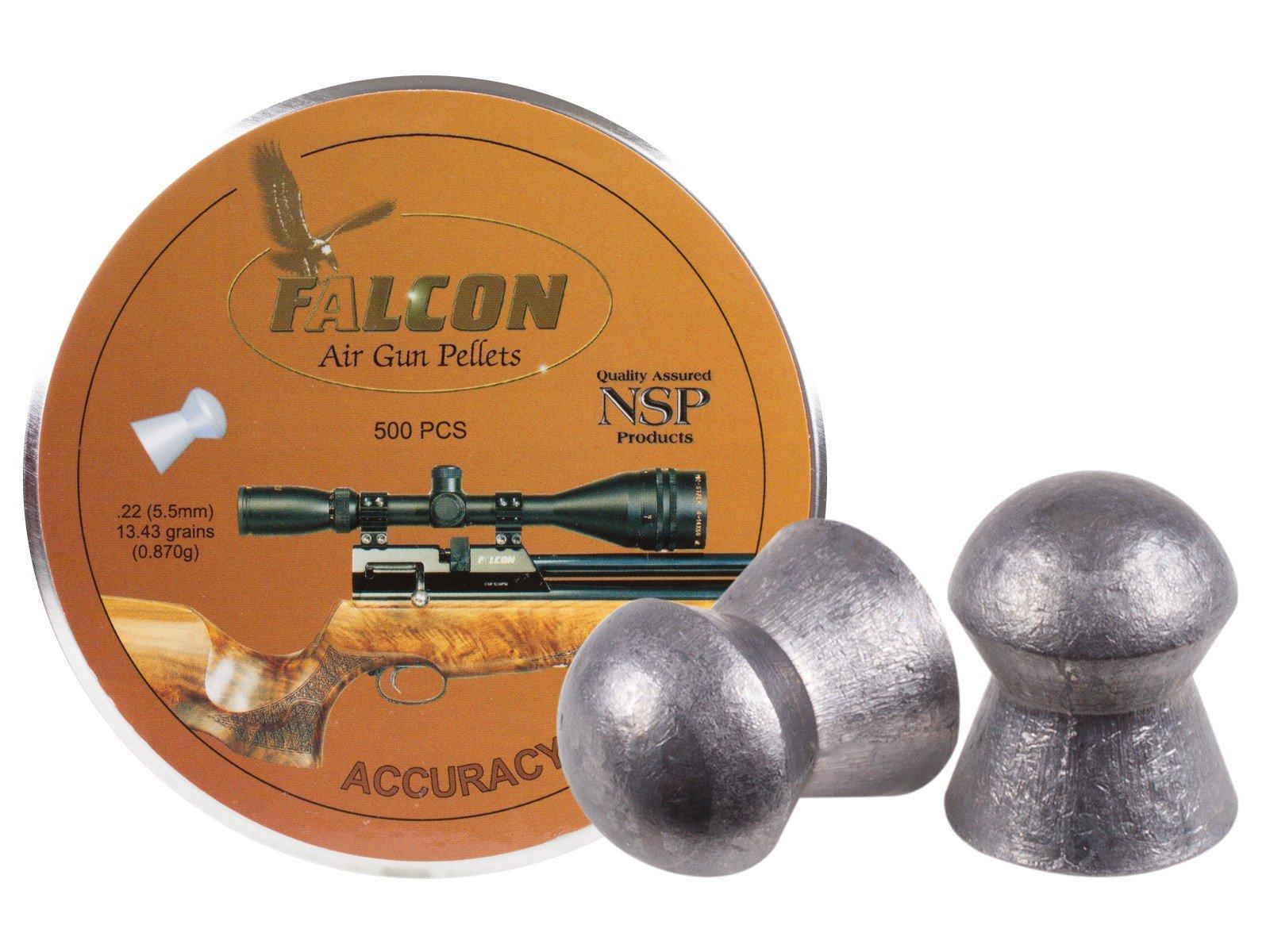 Air Arms Falcon .22 Cal, 5.52mm, 13.43 Grains, Domed, 500ct