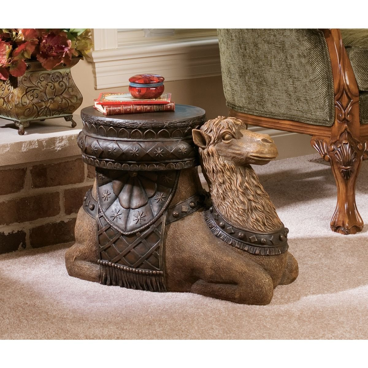 Amazon design toscano the kasbah camel sculptural end table amazon design toscano the kasbah camel sculptural end table kitchen dining geotapseo Image collections