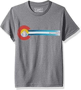 Spyder Camiseta de Manga Corta de algodón orgánico con la Bandera niños, Mezcla de algodón orgánico, Niños, Color Alloy, tamaño Small: Amazon.es: Deportes y aire libre