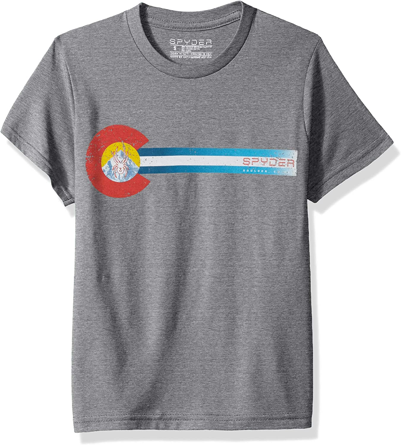 Spyder Co Flag Organic Cotton Blend Short Sleeve T-Shirt