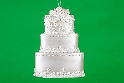"4.75"" Wedding Cake Christmas Ornament - Amazon.com: 4.75"