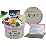 Anniversary Survival Kit In A Can. Humorous Novelty Gift - Female Anniversary or Wedding Anniversary Present & Card All In One. Gifts For Her/Gifts For Women. Girlfriend, Fiancee, Friend, Wife, Partner. Customise Your Can Colour. (Pink/Cream)