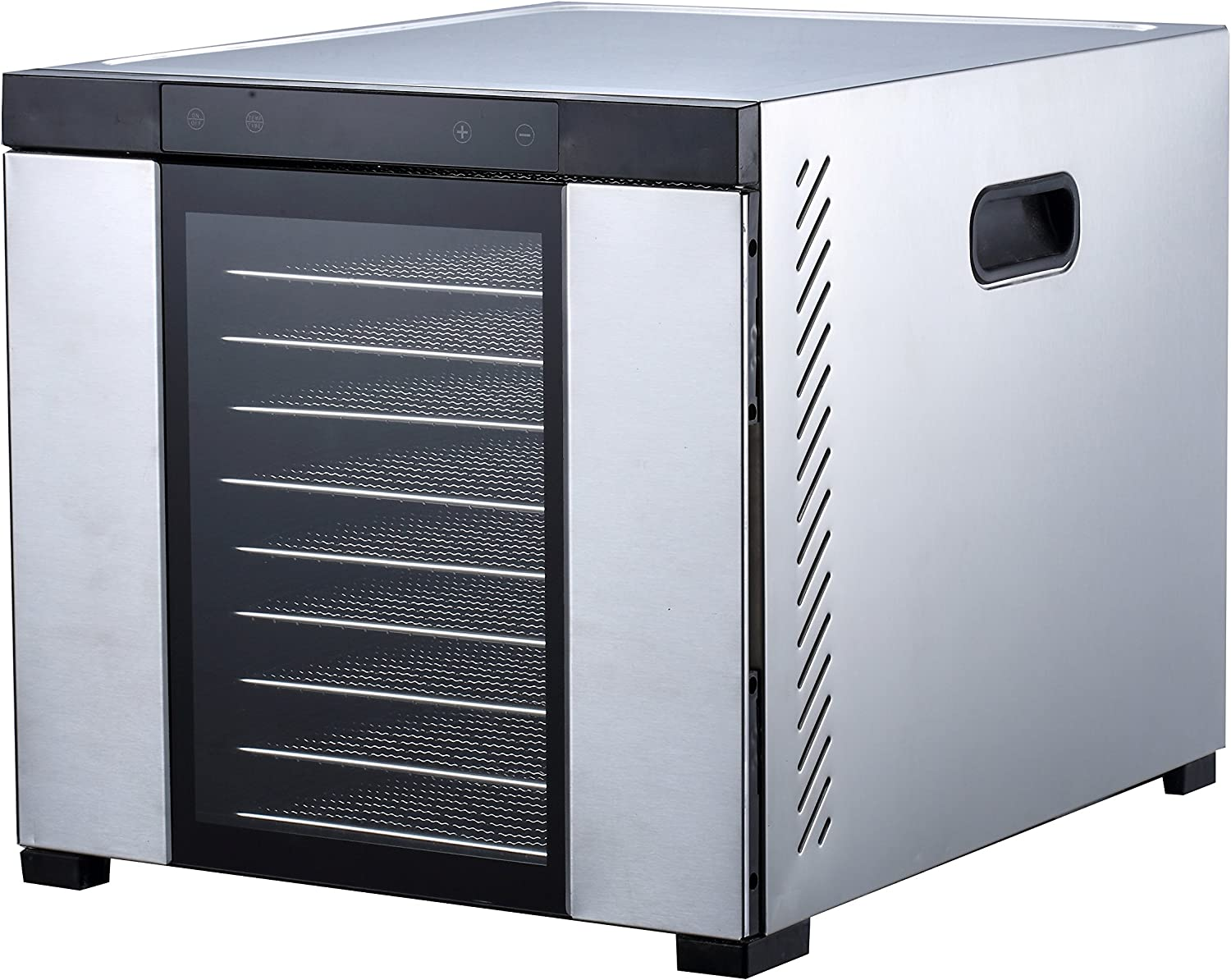 "Samson ""Silent"" 10 Tray ALL Stainless Steel Dehydrator - Digital Controls - Glass Door"