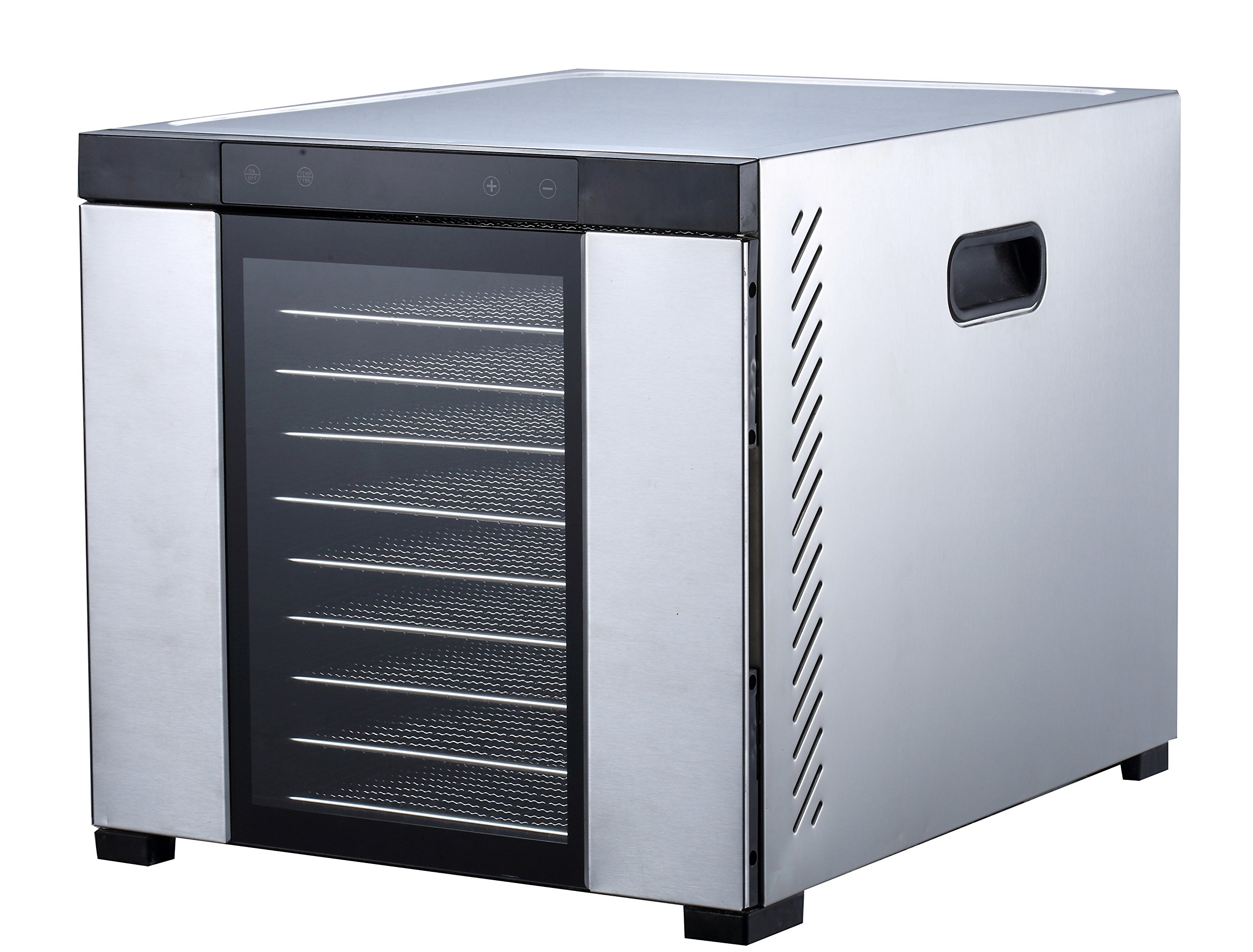 Samson ''Silent'' 10 Tray ALL Stainless Steel Dehydrator - Digital Controls - Glass Door by Samson Brands