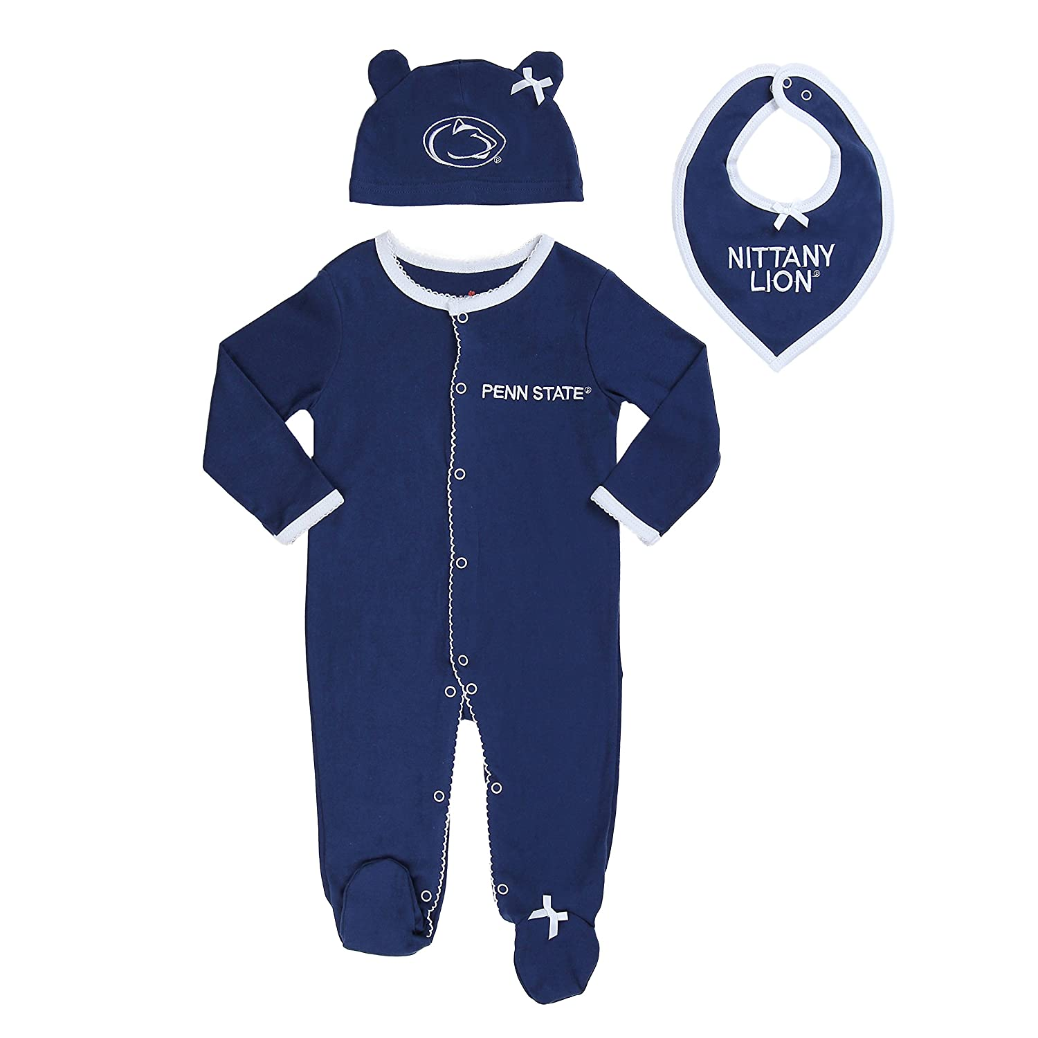 f1bfd3515b5 FAST ASLEEP Penn State University Baby Girl (3pc) Footie