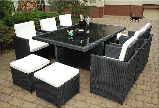 Muebles de Jardín Mesa daliana con 6sillas & 4taburetes Deutsche Marca-eignene de fabricación Muebles de Jardín incl. Cristal y asiento cojín ragnarök de muebles Diseño: Amazon.es: Jardín