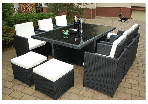 Muebles de Jardín Mesa daliana con 6 sillas & 4 taburetes ...