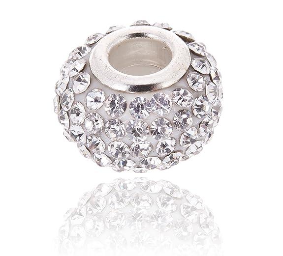 8 opinioni per Ciondolo da donna, Bianco fascino cristallo austriaco.