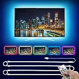 Consciot LED Strip Lights, 6.56ft RGB LED Strip Kit for 40-60 Inch TV Bias Lighting, Monitor Backlight, Under Cabinet Lightin