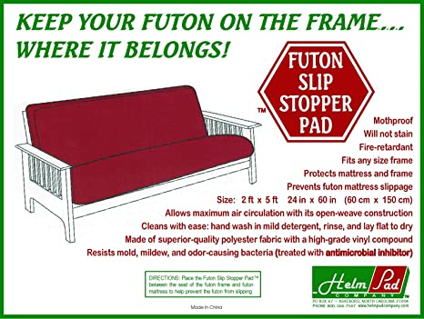 mattress keeps sliding off frame. amazon.com - non-slip futon grip pad (slip stopper pad) by helm slipcovers mattress keeps sliding off frame t