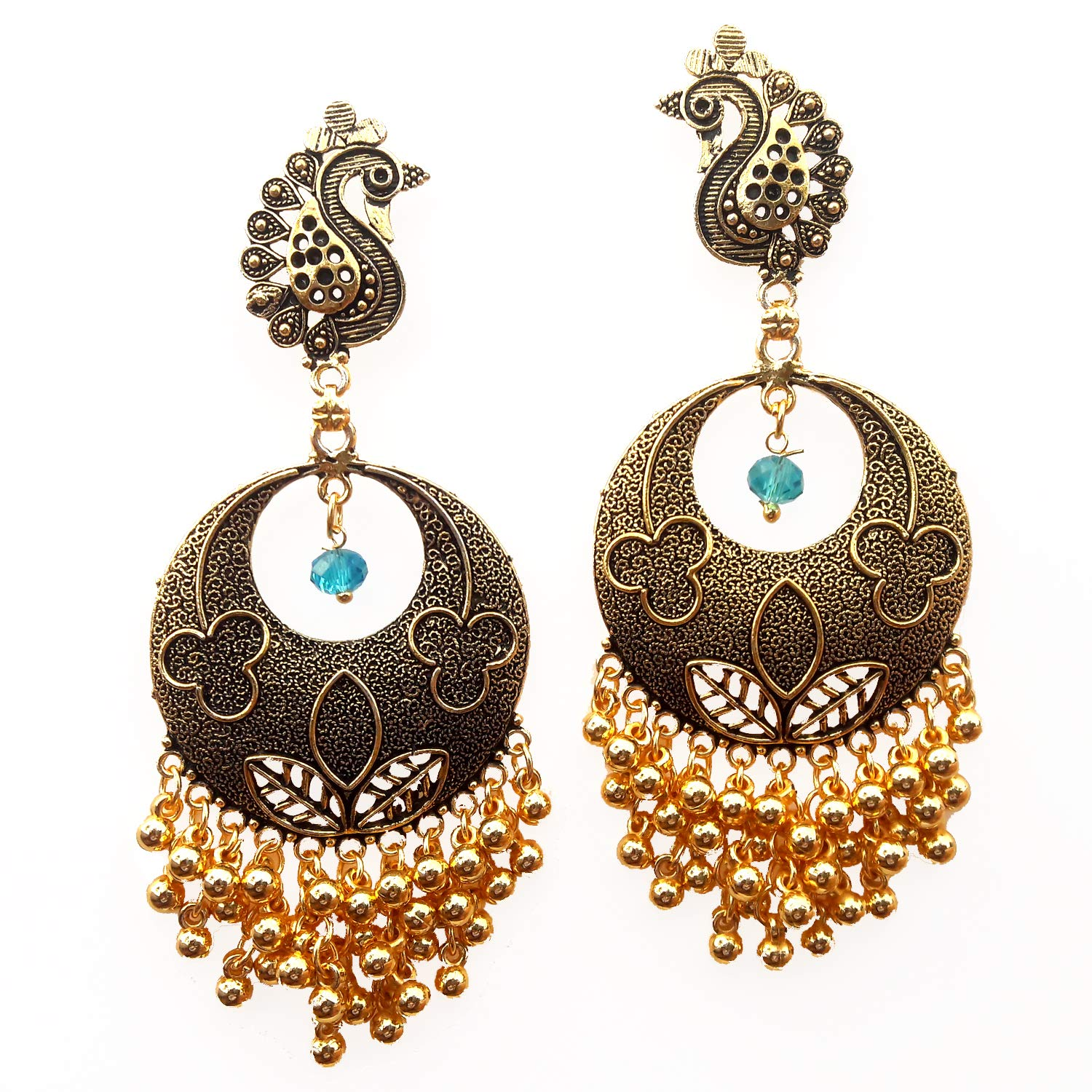 Buy Traditional Gold Plated Rajkot Women's Earrings at Amazon.in