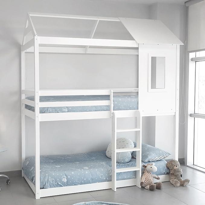 Letto A Forma Di Castello.Letto Tipo Montessori A Forma Di Casa Colore Bianco Amazon It