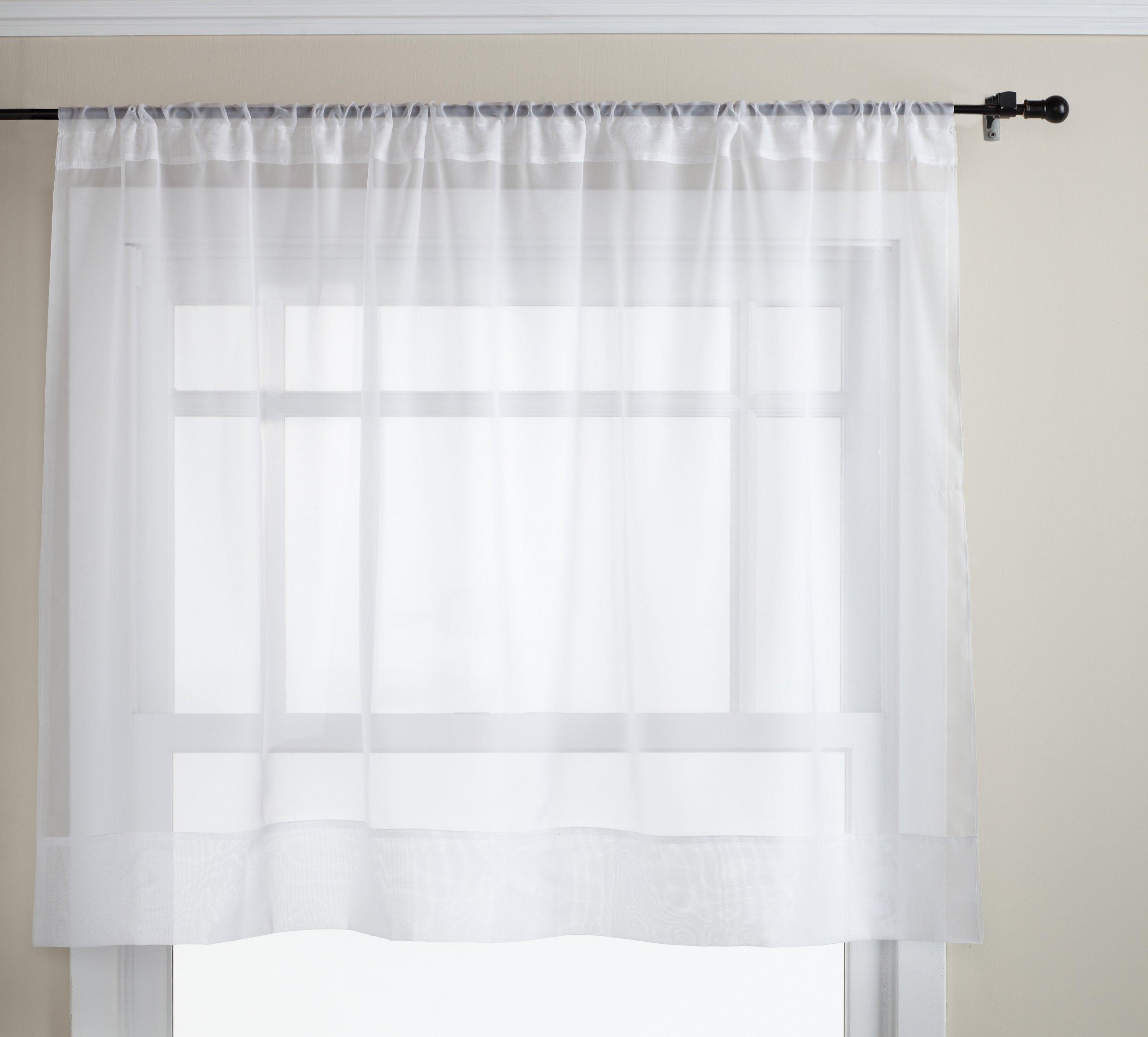 Sheer Kitchen Curtains Amazon Com: Sheer Cafe Curtains: Amazon.com