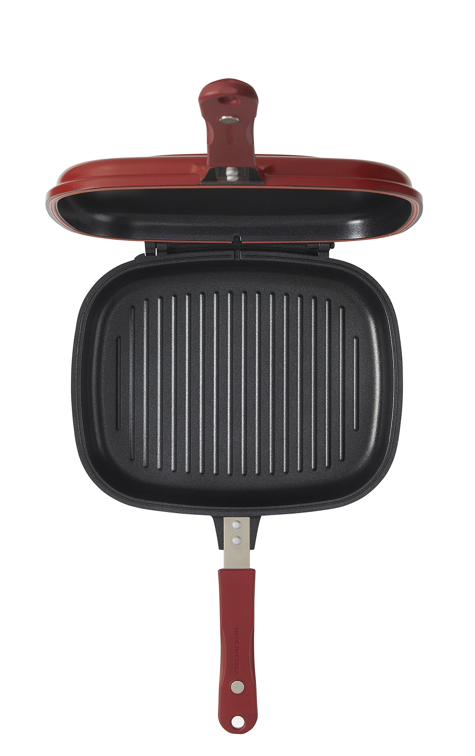 Happycall 3002-0014 Double Pan Jumbo Grill Cookware Red by Happycall (Image #4)
