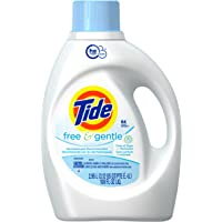 Tide Free and Gentle He Liquid Laundry Detergent, 2.95-Liter- Packaging May Vary