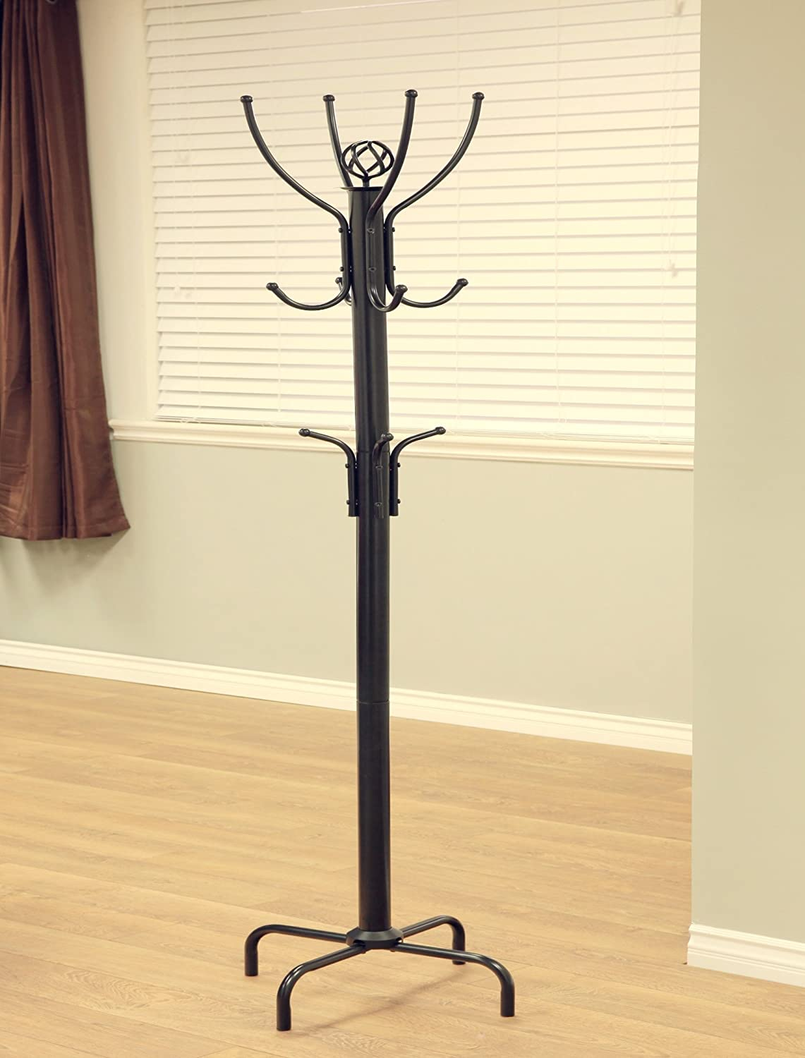 "Frenchi Home FurnishingCoat Rack, 73"" H, Raisin Black"