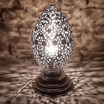 Marrakech Accessoires - Lámpara de pie marroquí (latón bañado en ...