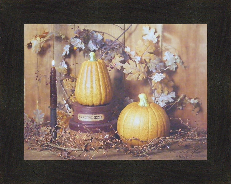 Pumpkin Spice by Billy Jacobs 15 x 19 Autumn Fall Still LifeプリミティブPhotography LeavesキャンドルFramed印刷画像 16 x 20インチ  2\ B0754N872T