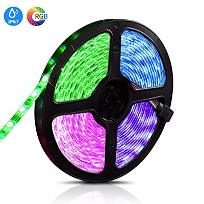 DULEES LED Strip Lights 16.4Ft/5M 300LED SMD 5050 RGB, Color Changing Light Strip with 24 Key IR Remote Idea & Power Supply
