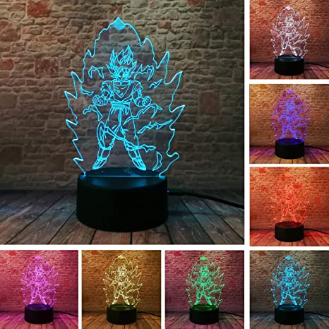 Tinker Bell Anime Figure 3d Illusion Led Lamp 7 Colors Changing Nightlight Lighting Desk Decor Luminous Model Toys Attractive Designs; Toys & Hobbies