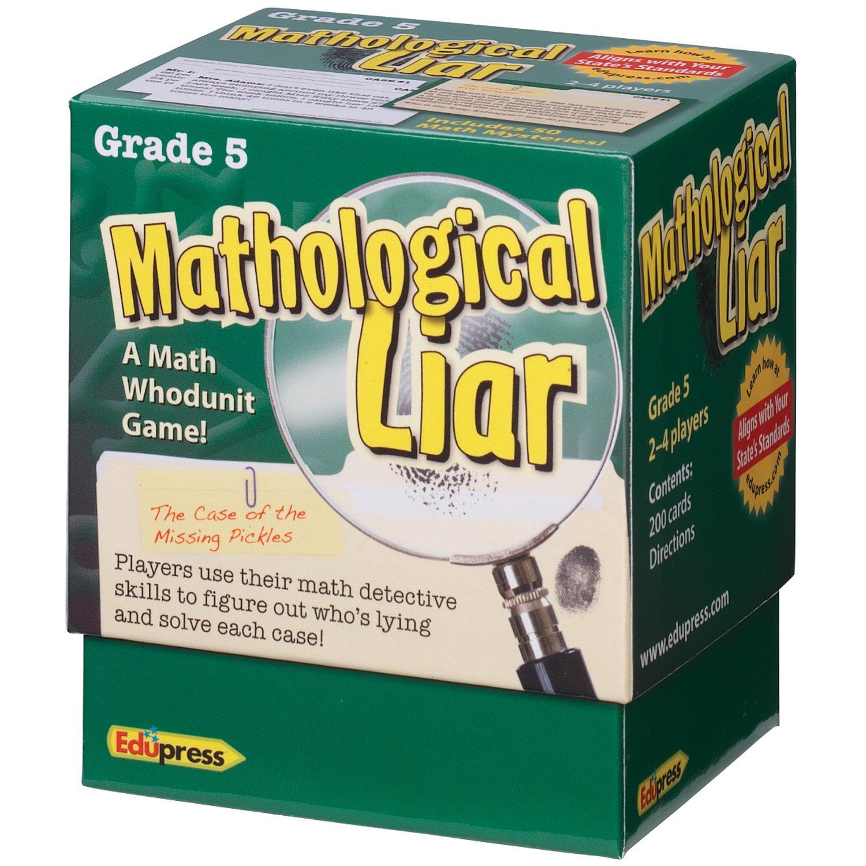 Edupress Mathological Liar Game, Grade 5 (EP63398)