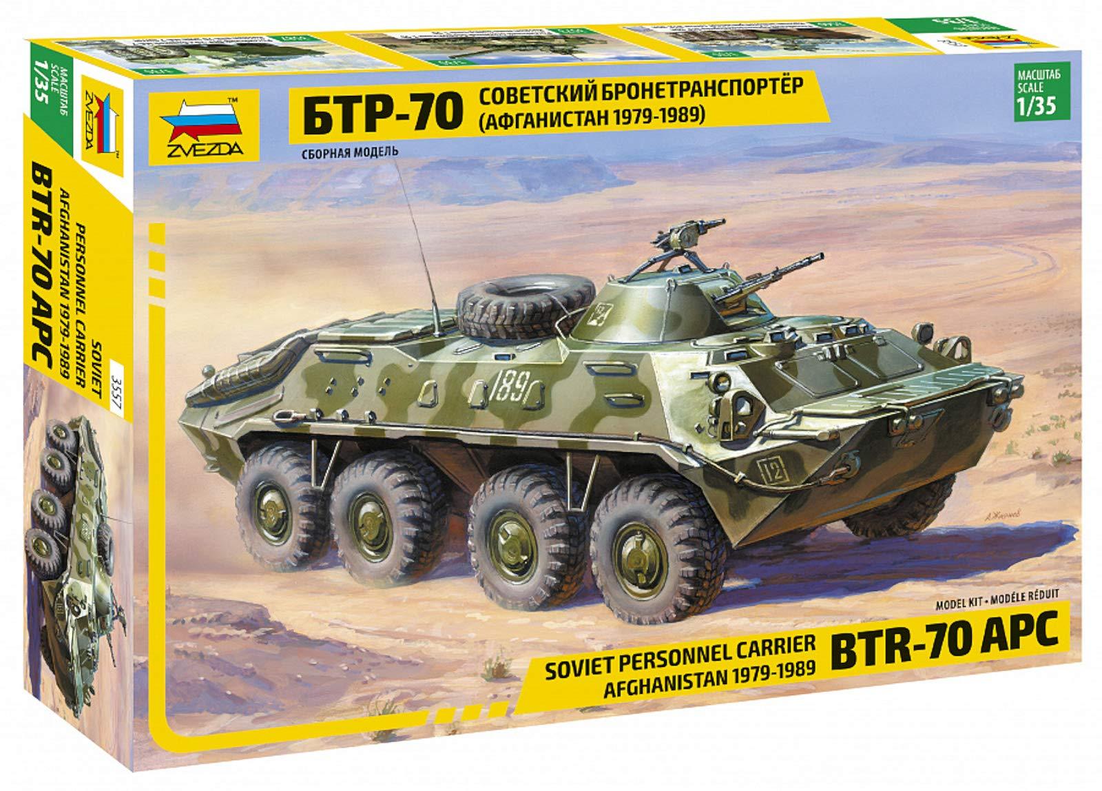 Zvezda Models BTR-70 APC Afghanistan Model Kit