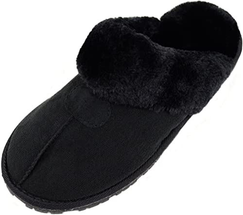 Booties Indoor Shoes Warm Faux Fur Inners Womens Slip On Slippers Ladies