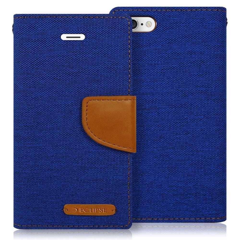 Eclipse For Samsung Galaxy J32017 Emerge J327 Goospery J3 2017 Pro Canvas Diary Case Orange Express Prime 2 Pocket Wallet Credit Card Holder Navy Cell Phones Accessories