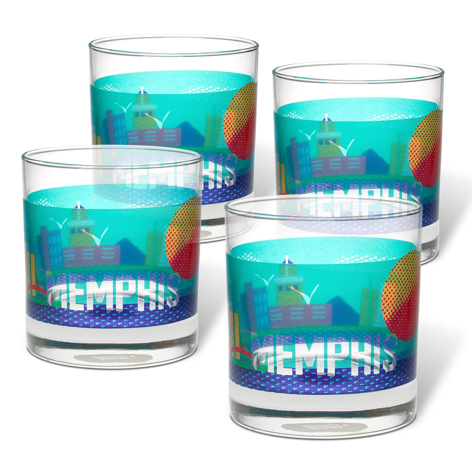 Places /& Things 3-00454 Memphis Rocks Multi People Glass