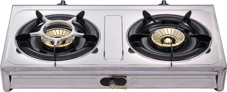 NJ SG-2 R/échaud /à gaz portable pour camping avec double br/ûleur au butane plaque et /étui