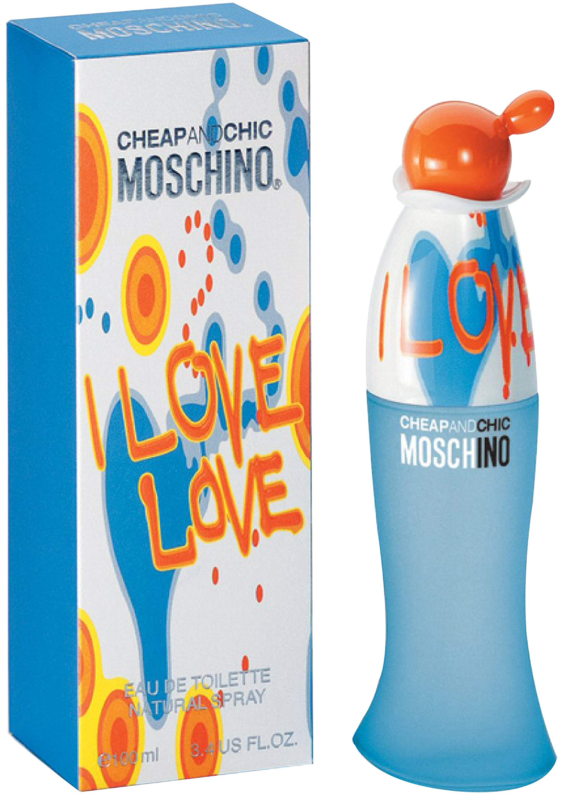 I Love Love Cheap and Chic by Moschino for Women 3.4 oz Eau de Toilette Spray by MOSCHINO