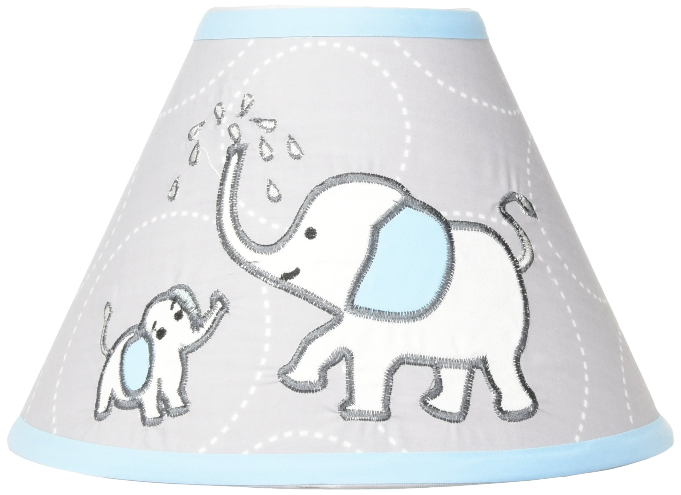 GEENNY Lamp Shade, Blizzard Blue Grey Elephant