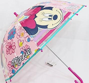 Niños traslúcido de paraguas Diseño Minnie Mouse en rosa (kst06)
