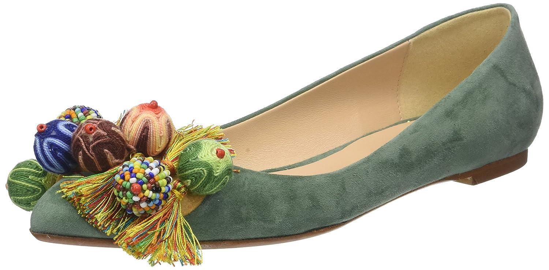 Fabio Rusconi Schaftballerinas, Bailarinas para Mujer 38 EU|Verde (Basilico)
