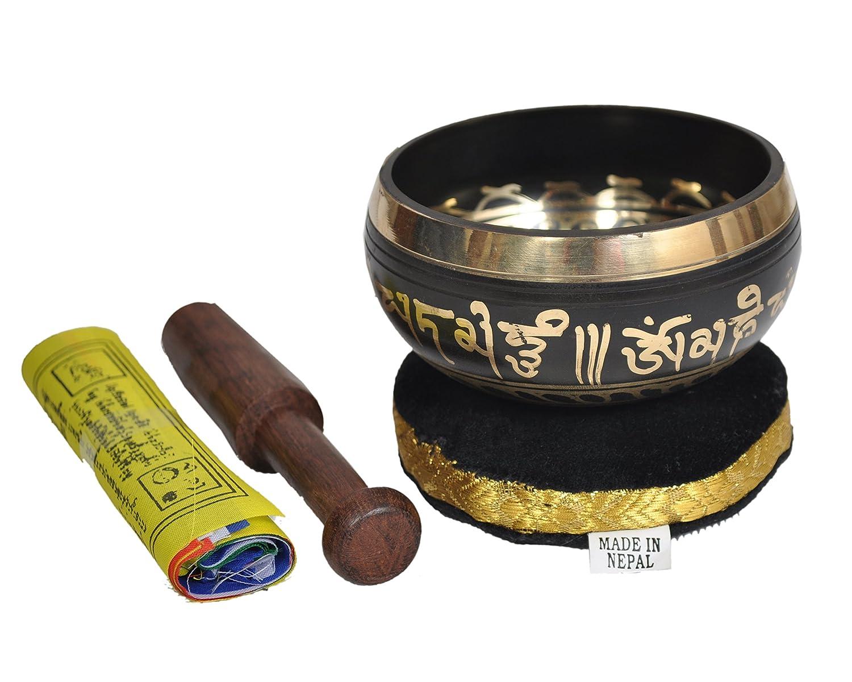Dharma Store Hand Hammered Tibetan Meditation Yoga Singing Bowl Set