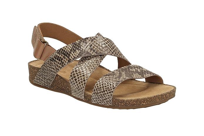 fc0e25897dbc7e Clarks Womens Perri Dunes Sandals Brown Size  7.5 UK  Amazon.co.uk  Shoes    Bags
