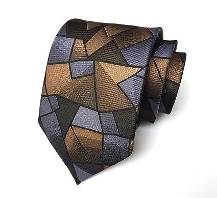 Chris Vu Moderna corbata patrón abstracto en plata y tonos de ...