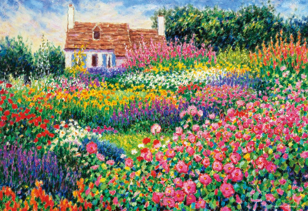 1000 piece jigsaw puzzle flower Philharmonic world micro micro piece (26x38cm)