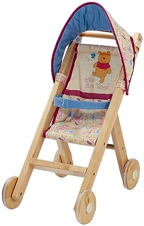 Disney 801307 - Cochecito para muñecas cochecito de madera, estoy Winnie the Pooh: Amazon.es: Juguetes y juegos