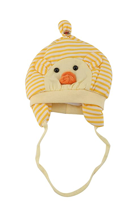 b9c7854138c Pebbles Babyzone Unisex Woolen Winter Earflap Beanie Stripped Cap for Kids