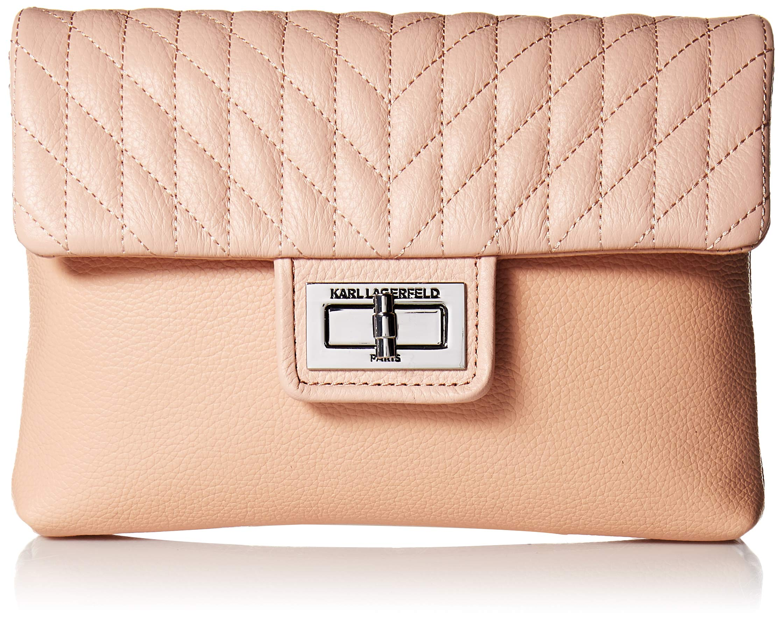 Karl Lagerfeld Paris Womens Agyness Belt Bag, Peony